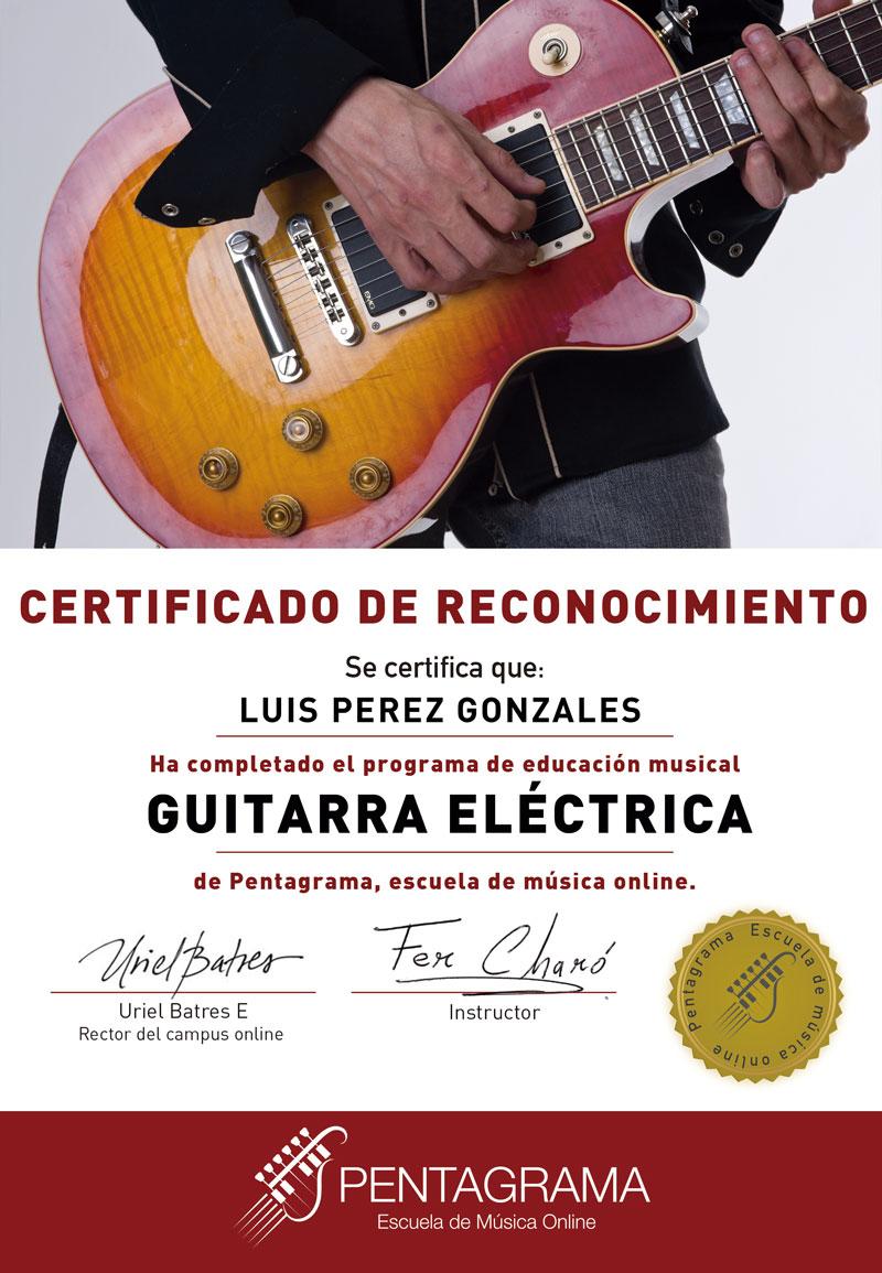 certificate con el sistema guitar master