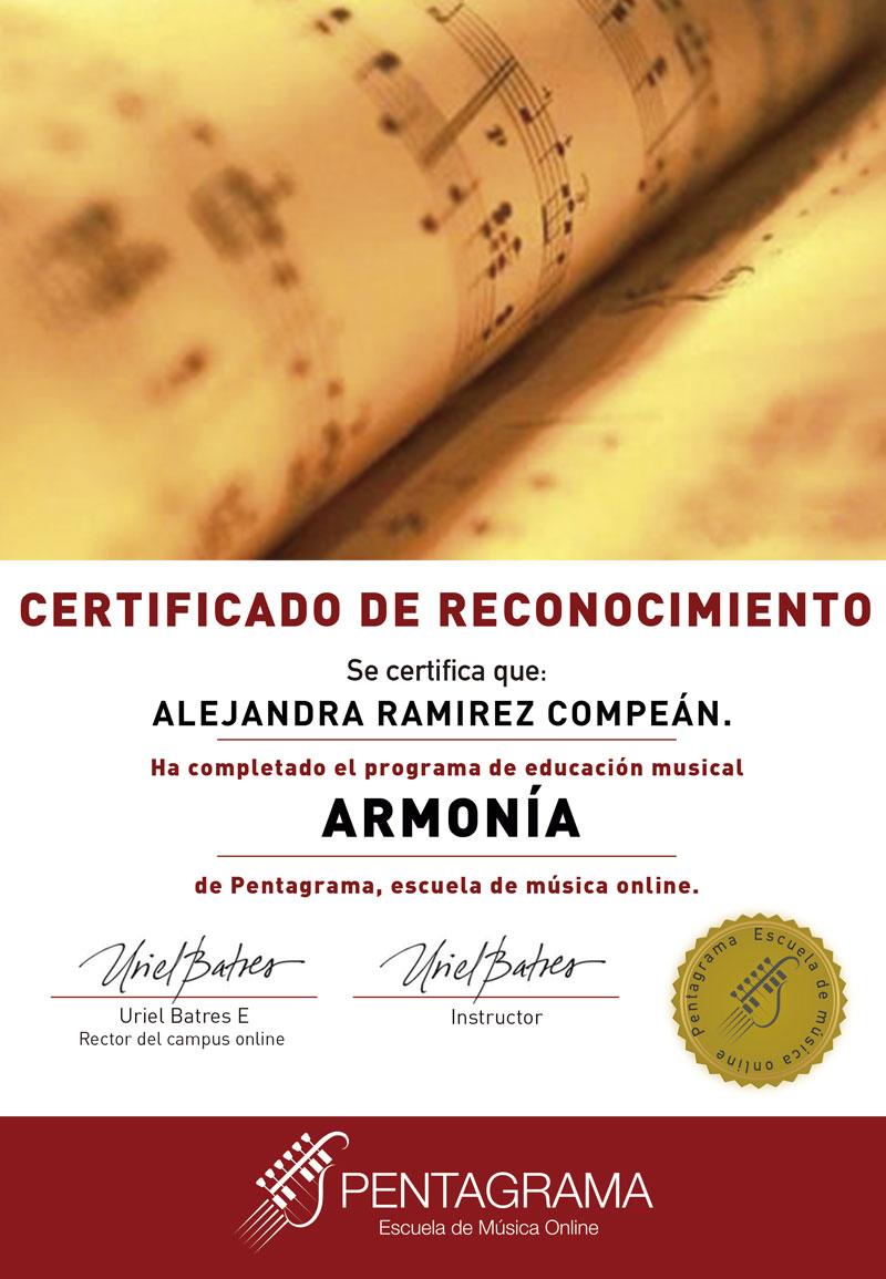 certificate con el sistema harmony master