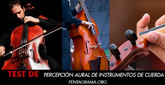 test de percepción aural de instrumentos de cuerda