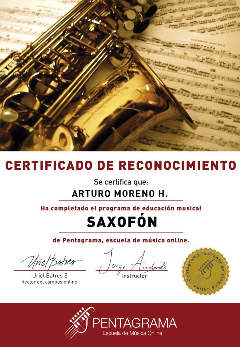 certificate con el sistema sax master