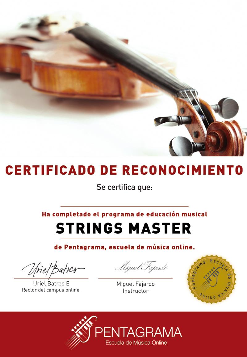 Certificado curso de violín